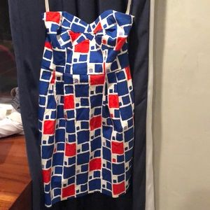 Shoahanna Sweetheart Strapless Graphic Dress NWT